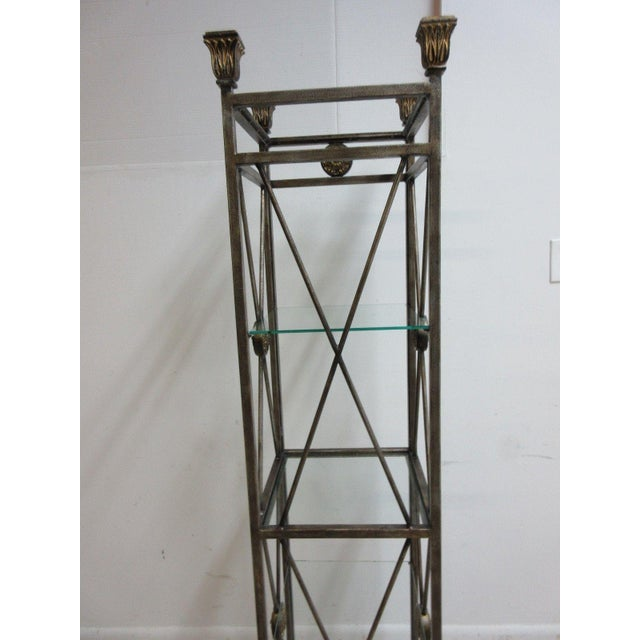 Maitland Smith Metal French Regency Etagere Shelf For Sale - Image 9 of 10