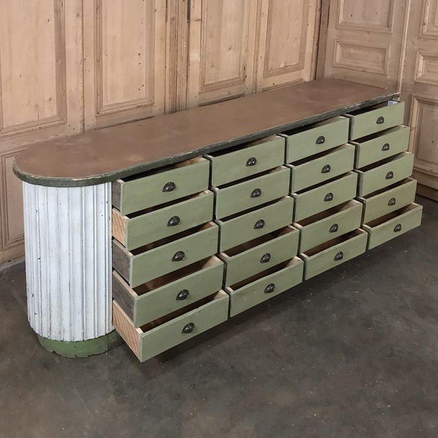 Mid-Century Painted Store Counter For Sale - Image 4 of 13