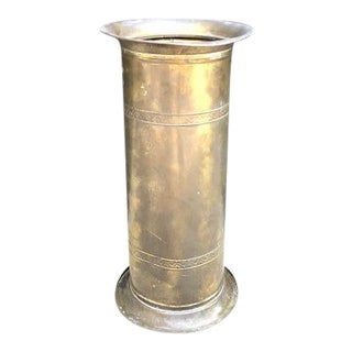 Lombard England Brass Umbrella Holder Stand For Sale