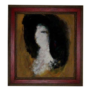 Abstract Mixed-Media on Board Attributed to Peter Brandes, 1966 For Sale