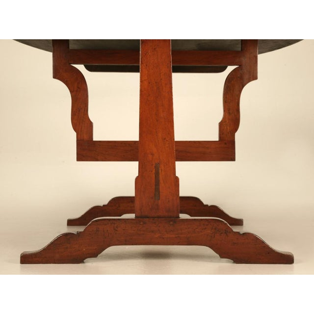 Wood French Cherry Tilt-Top Wine Table Reproduction For Sale - Image 7 of 9
