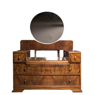 Early 20th Century Vintage Art Deco Waterfall Dressing Table For Sale