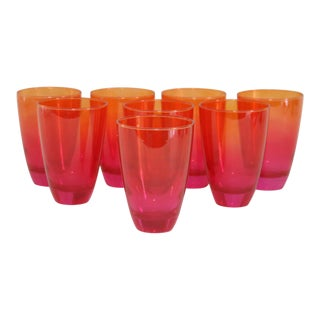 Pink Ombre Glass Tumblers - Set of 8