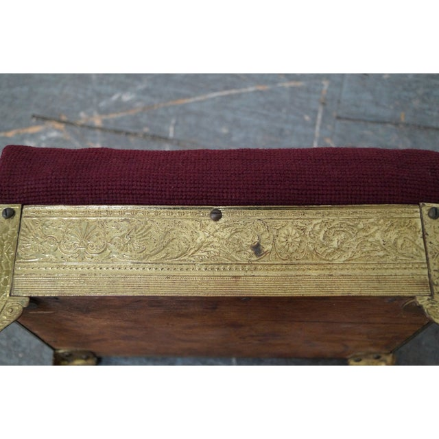 Victorian Aesthetic Brass Footstools, Attributed to Charles Parker- A Pair - Image 9 of 10