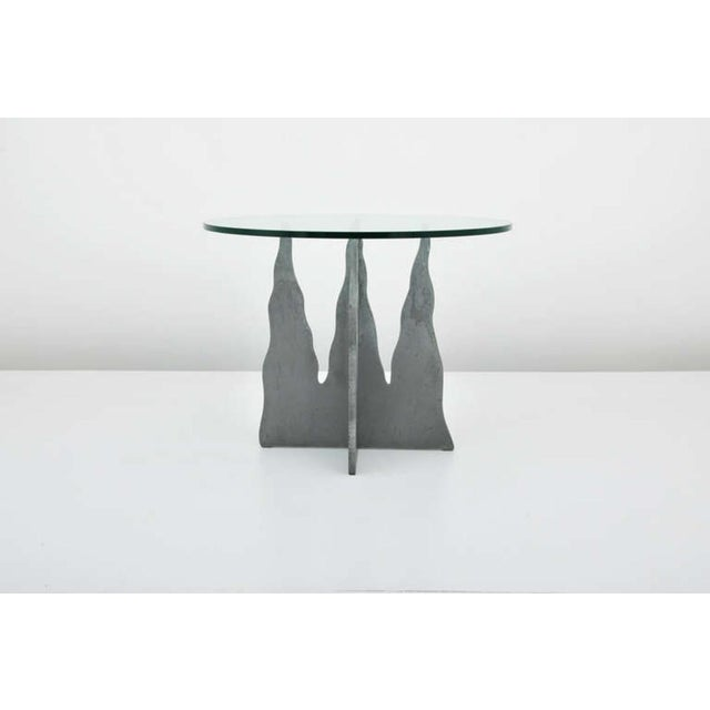 Pucci De Rossi Steel And Glass End Side Table - Image 2 of 6