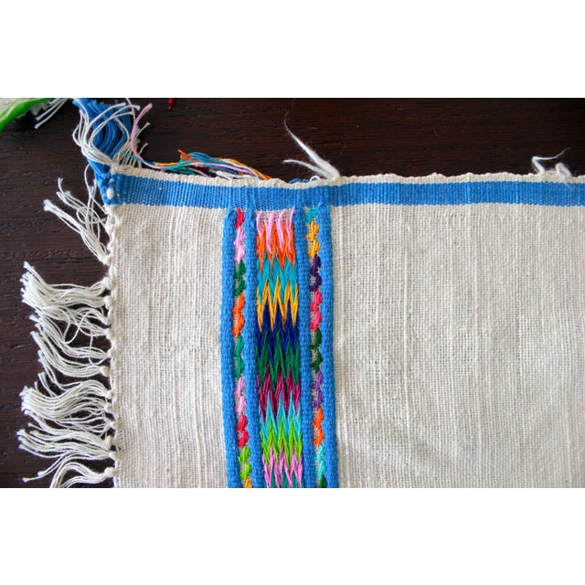 Hand Embroidered Multicolor Placemats - Set of 6 - Image 2 of 7