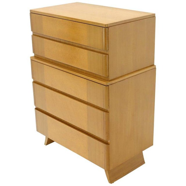 Five Drawers Blond to Gold Mahogany Saarinen High Chest Dresser For Sale - Image 11 of 11