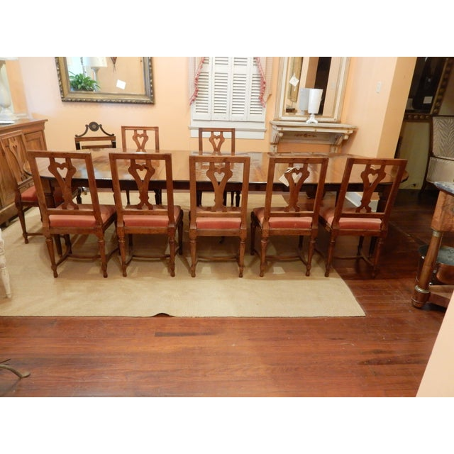 French Walnut Extension Dining Table For Sale - Image 10 of 12