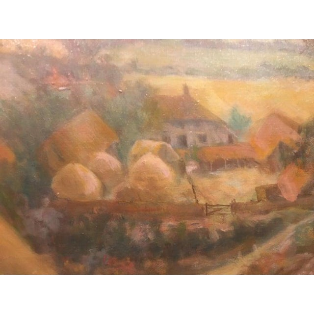 """Mid 20th Century British Oil on Canvas """"Valley of the Rothe"""" by F. M. de la Coze, 20th Century For Sale - Image 5 of 10"""