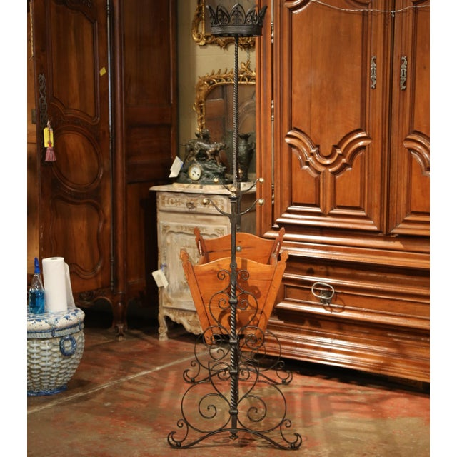 Metal 19th Century French Napoleon III Walnut and Iron Baby Craddle With Canopy For Sale - Image 7 of 9