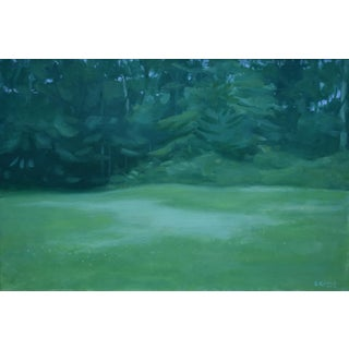"""Clover in the Backyard"" Contemporary Landscape Painting by Stephen Remick For Sale"