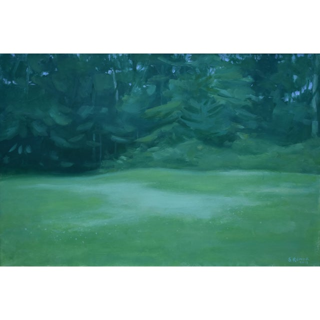 "Contemporary Stephen Remick ""Clover in the Backyard"" Landscape Painting For Sale"