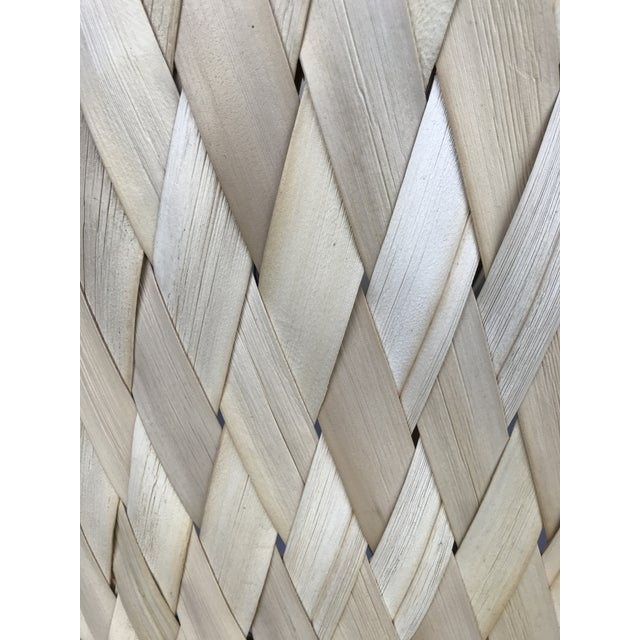 """Mid-Century Modern 50"""" Tall Monumental Driftwood Lamp Original Woven Shade For Sale - Image 3 of 10"""