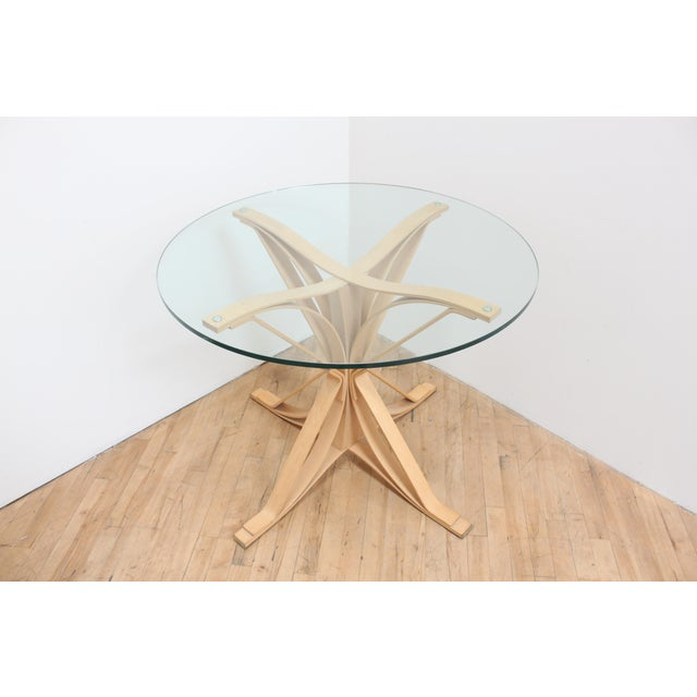 Knoll 1992 Frank Gehry Face Off Table for Knoll- Maple and Glass For Sale - Image 4 of 9