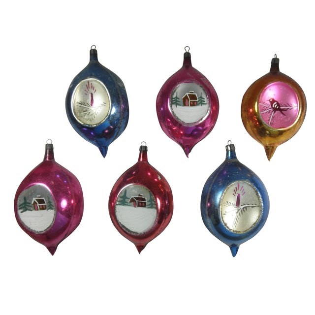 Polish Scenic Teardrop Ornaments - Set of 6 - Image 1 of 4