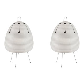 1950s Akari Model 1AD Light Sculptures by Isamu Noguchi - a Pair For Sale