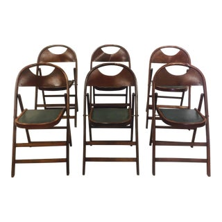 Vintage Bentwood Folding Chairs - Set of 6