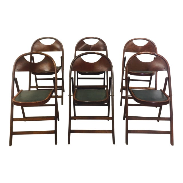 Vintage Bentwood Folding Chairs - Set of 6 For Sale