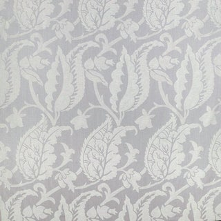 Sample, Suzanne Tucker Home Jacqueline Linen Blend Jacquard in Lilac For Sale