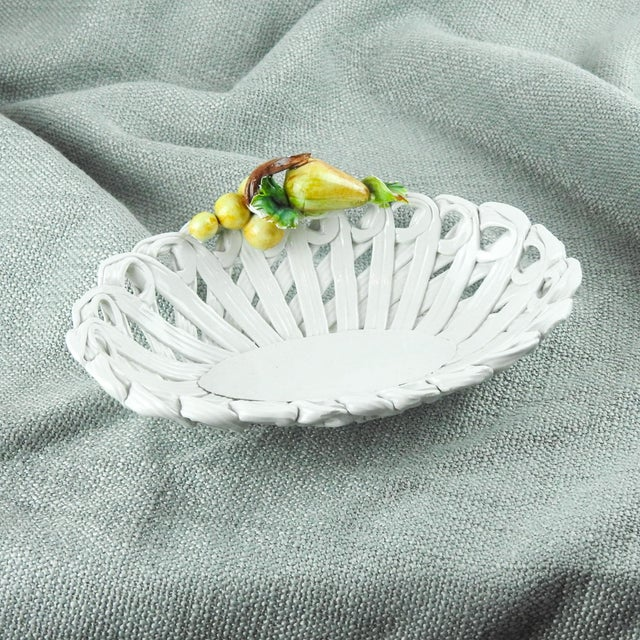 1980s Italian Pottery Basket For Sale - Image 4 of 10