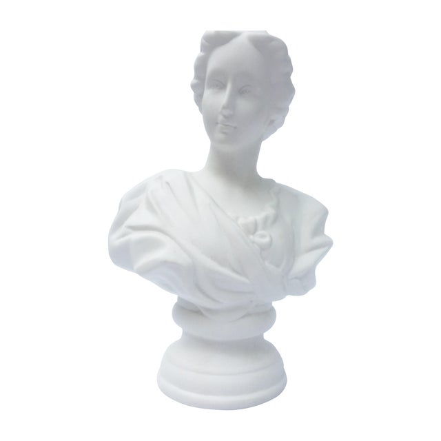 Neoclassical White Bust For Sale