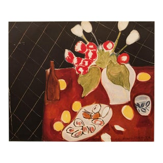 "1946 Henri Matisse Original ""Still Life. Tulips and Oysters"" Period Parisian Lithograph For Sale"