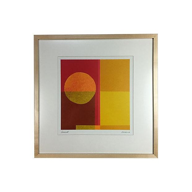 "California ""Sunset"" Lithograph by Amaina For Sale"