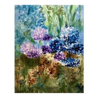 """Sylvia Rago """"Hydrangeas"""" Contemporary Painting"""