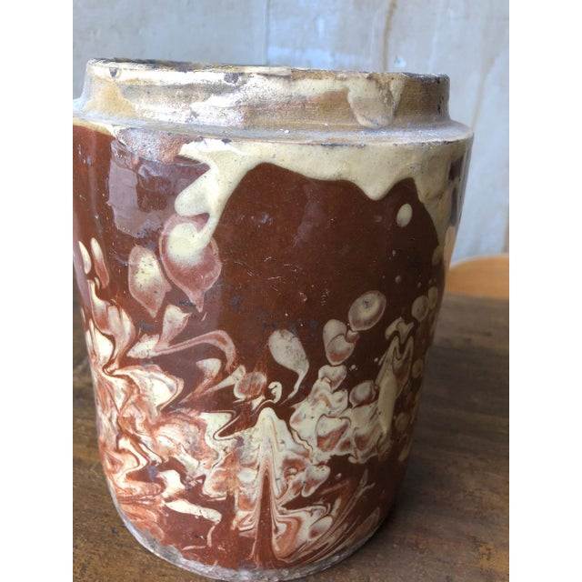 Early 20th Century Antique Pugliese Marbleized Canister For Sale - Image 5 of 10