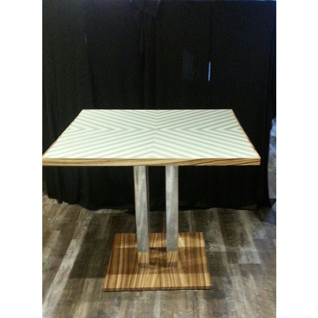 Gold Chevron Dining Table - Image 2 of 4