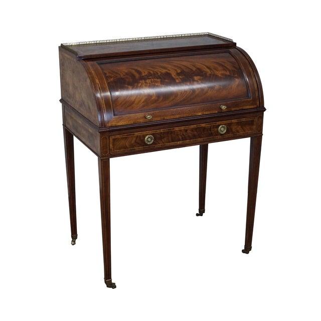 Baker Flame Mahogany Cylinder Roll Federal Desk - Image 1 of 10