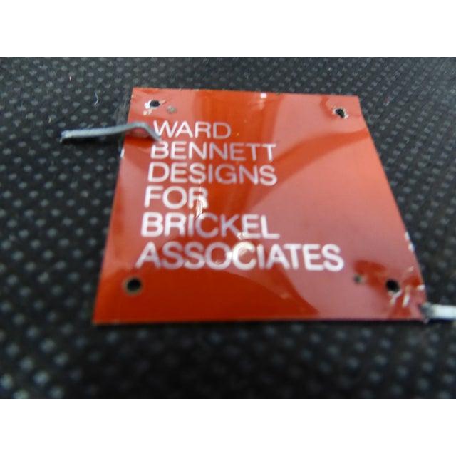 Ward Bennett for Brickel Associates,Bumper Office Desk Armchair on Casters. For Sale - Image 9 of 12