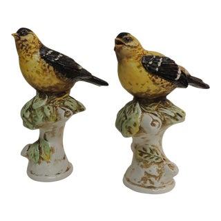 Vintage Pair of Italian Hand-Painted Bird Figurines. For Sale
