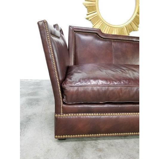 Leather Sofa by Ferguson Copeland For Sale - Image 10 of 13