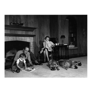 Humphrey Bogart, Lauren Bacall and Their Son, Stephen, at Home 1952 For Sale
