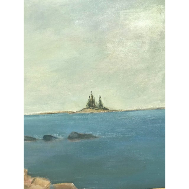 Impressionist 1960s Vintage Scenic Ocean Oil on Canvas Painting For Sale - Image 3 of 11