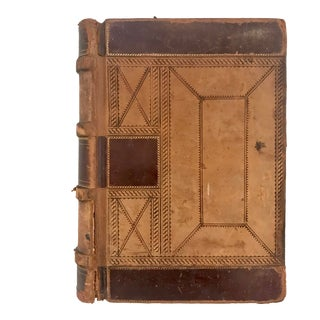 19th Century Decorative Ledger Book For Sale