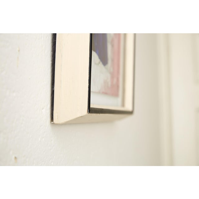 Framed Silloutte of a Girl in Watercolor and Ink For Sale - Image 4 of 5