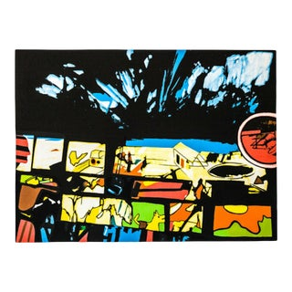 """Late 20th Century """"Fragments of a Dream"""" Abstract Numbered Serigraph by John Hultberg For Sale"""