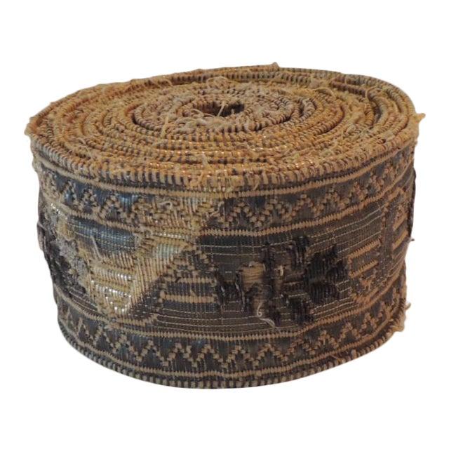 19th Century Set of (4) Tarnish Gold Metallic Woven Decorative Trims For Sale