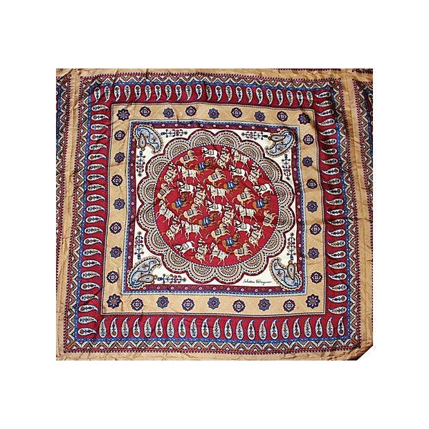 Ferragamo Silk Cashmere Pashmina Throw - Image 3 of 7