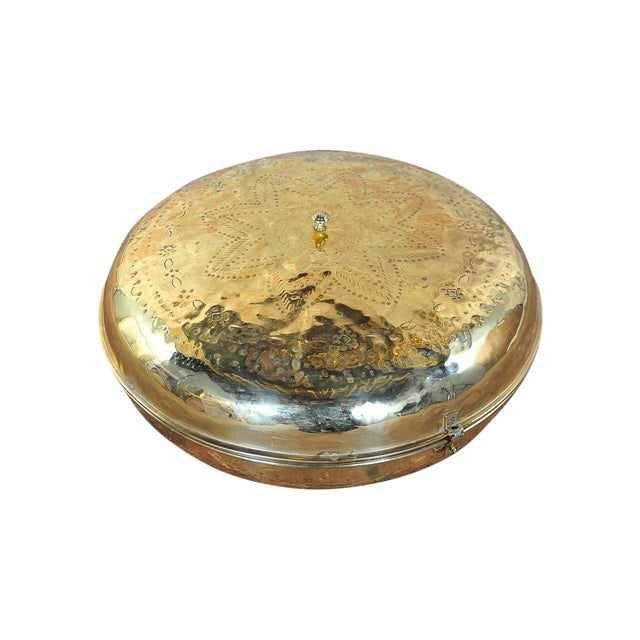 Antique 19th Century Brass Foot Warmer For Sale