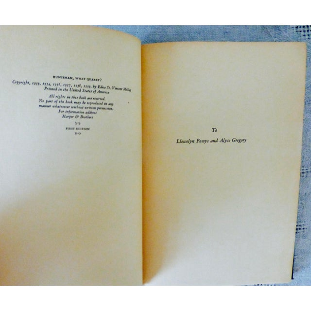 Edna St. Vincent Millay 'Huntsman What Quarry?' 1939 Book - Image 8 of 9