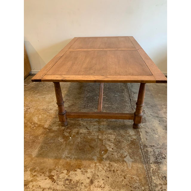 Farmhouse Antique French Farm Dining Table For Sale - Image 3 of 9