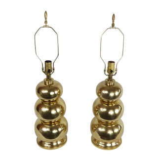 1970s French 3 Balle Lamps - a Pair For Sale