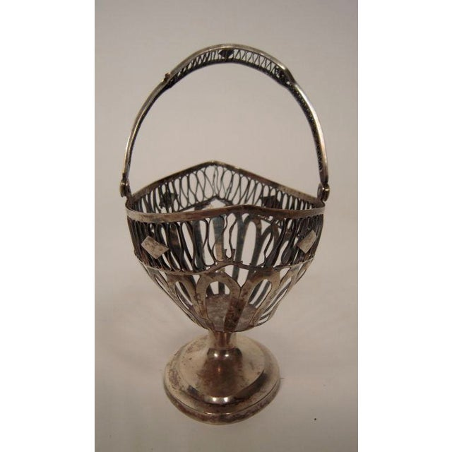 European Silver Neoclassical Basket For Sale - Image 4 of 6