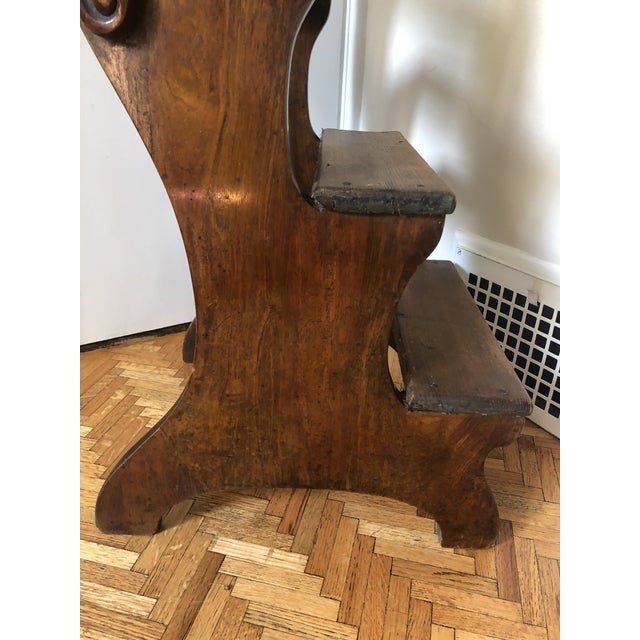Brown 19th Century Regency Mahogany & Pine Library Steps For Sale - Image 8 of 13