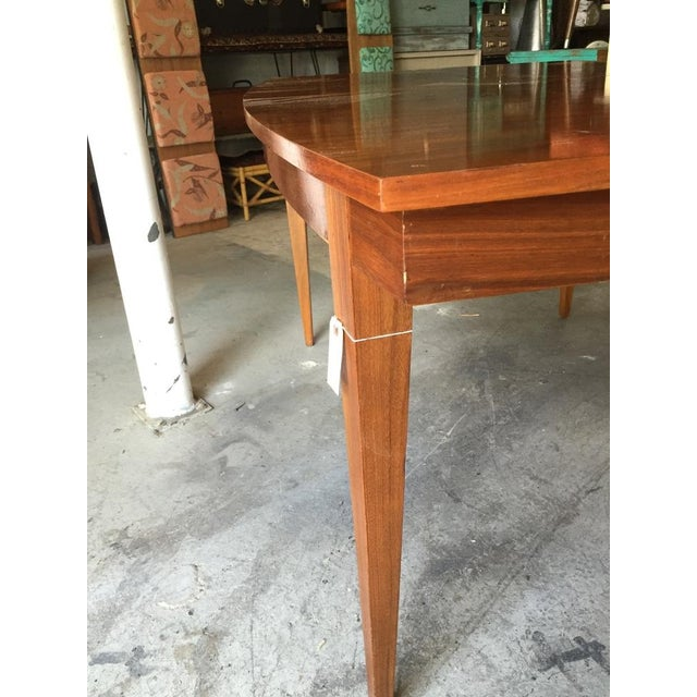 Danish Style Mid Century Modern Dining Table - Image 6 of 9
