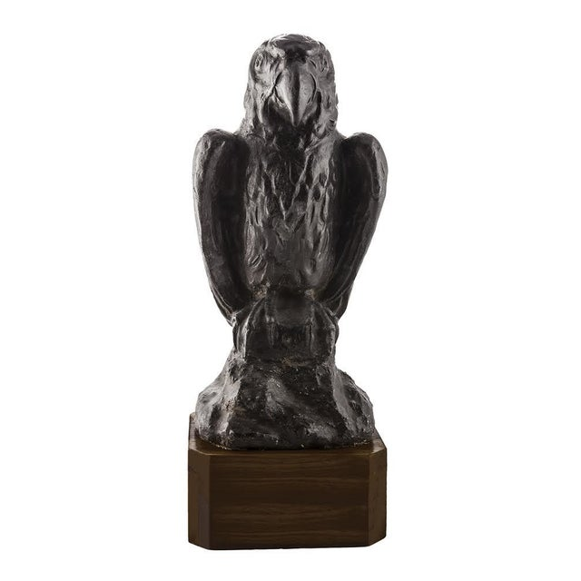 Early 20th C. Solid Lead Falcon Statuette For Sale