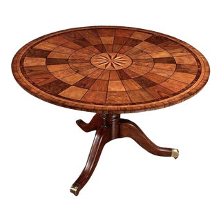 1970s Hollywood Regency Scully & Scully Round Tilt Top Dining Table For Sale